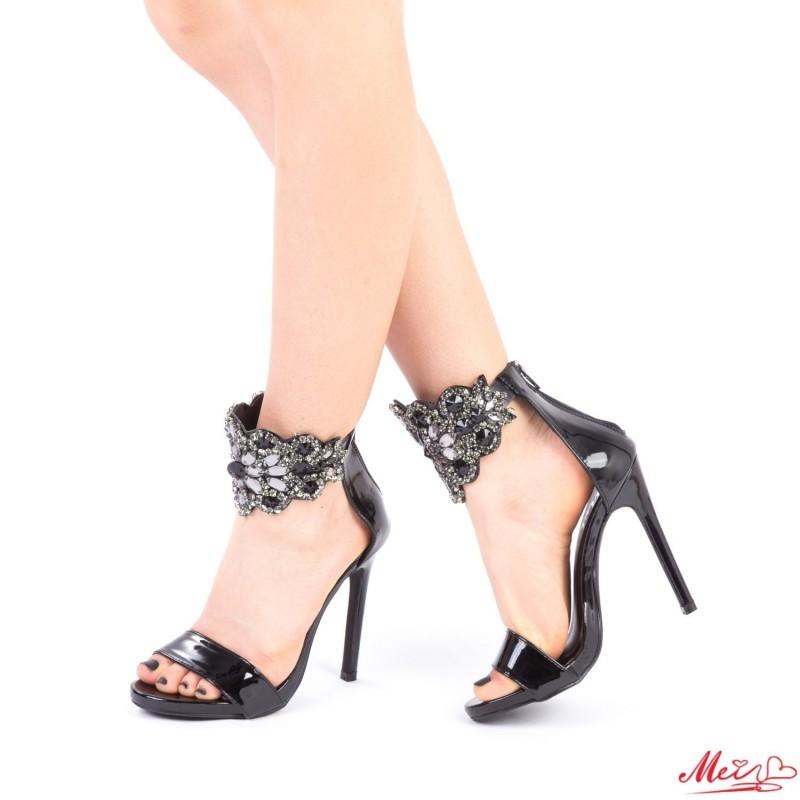 Sandale Dama cu Toc KNE2 Black Mei
