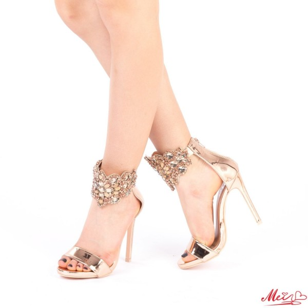 Sandale Dama cu Toc KNE2 Champagne Mei