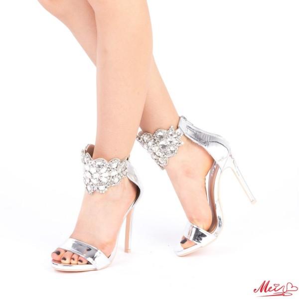 Sandale Dama cu Toc KNE2 Silver Mei