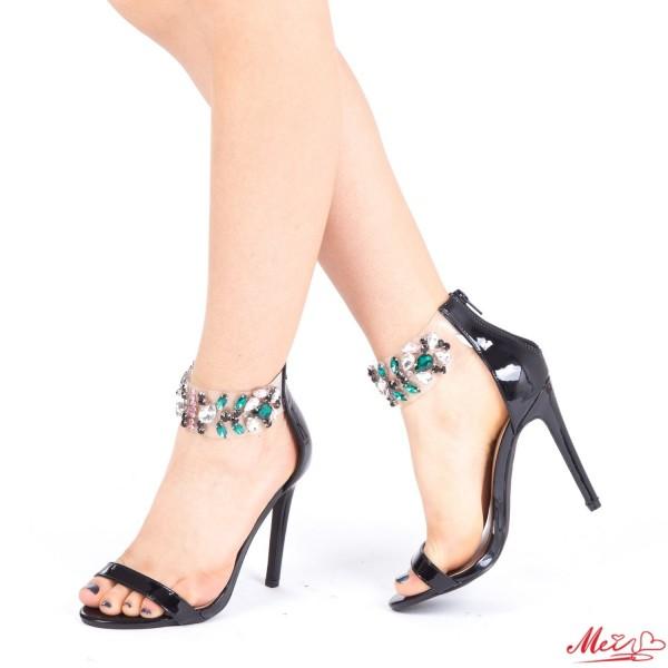 Sandale Dama cu Toc KNE3 Black Mei