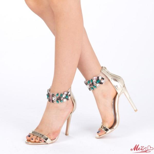 Sandale Dama cu Toc KNE3 Gold Mei