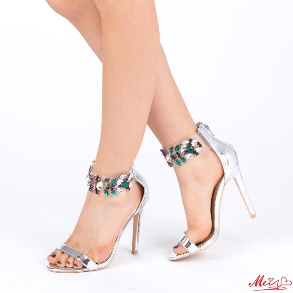 Sandale Dama cu Toc KNE3 Silver Mei