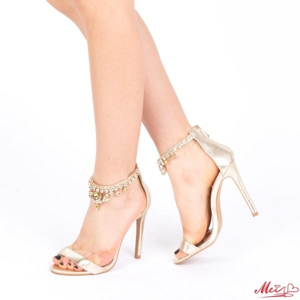 Sandale Dama cu Toc KNE5 Gold Mei