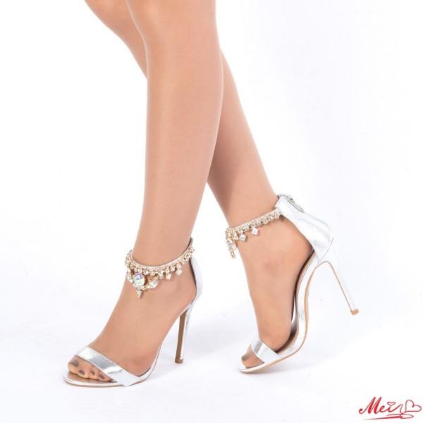 Sandale Dama cu Toc KNE5 Silver Mei