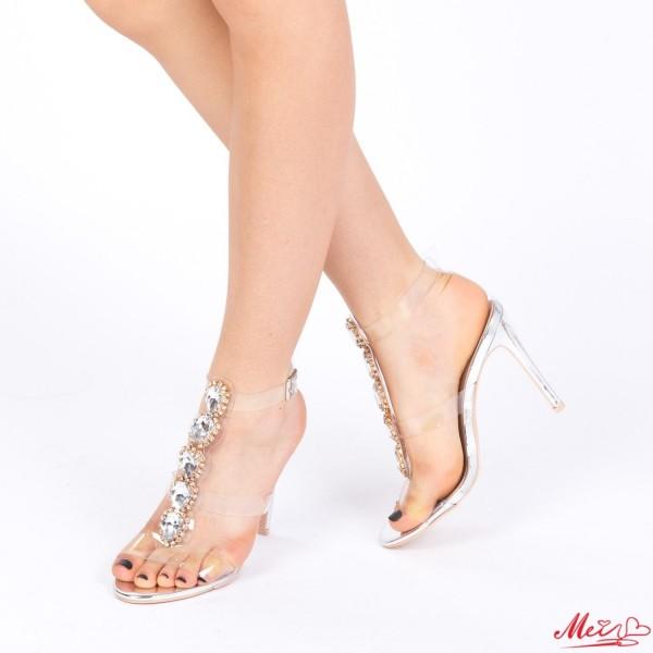 Sandale Dama cu Toc KNE7 Silver Mei