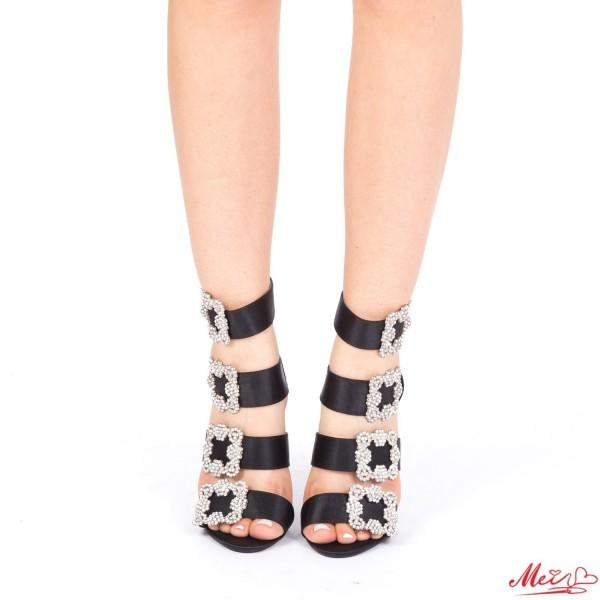 Sandale Dama cu Toc KS5 Black Mei