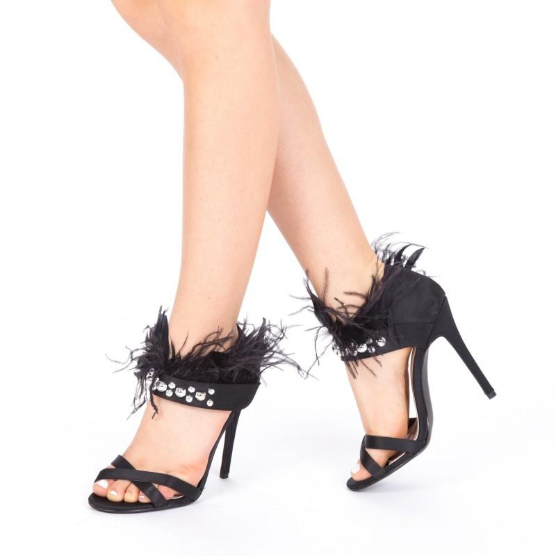 Sandale Dama cu Toc KS6 Black Mei