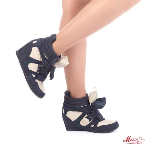 Pantofi Sport Dama cu Platforma LE102 Blue Mei