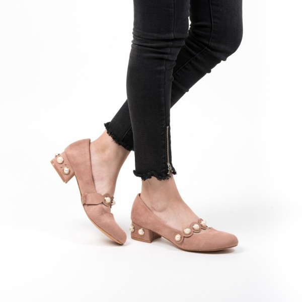 Pantofi cu Toc LE51 Pink Mei