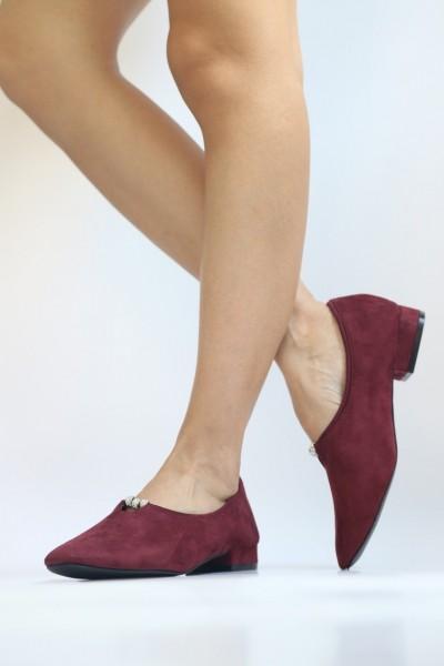 Pantofi Casual Dama LE52 Winered Mei