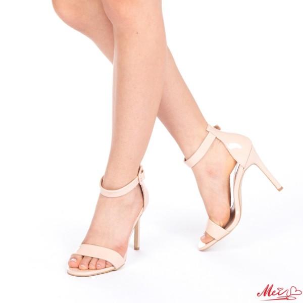 Sandale Dama cu Toc LE6A Nude Mei