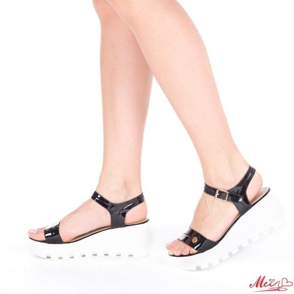 Sandale Dama cu Platforma LM117 Black Mei