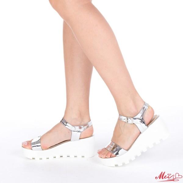 Sandale Dama cu Platforma LM117 Silver Mei
