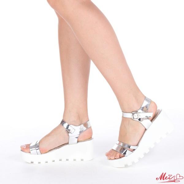 Sandale Dama cu Platforma LM118 Silver Mei