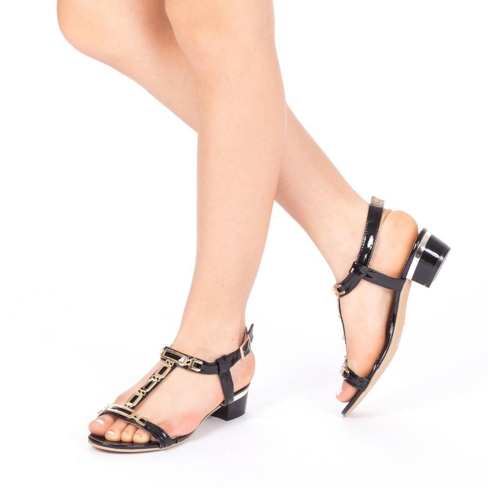 Sandale Dama cu Toc LM171 Black Mei