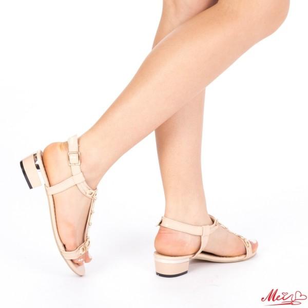 Sandale Dama cu Toc LM171 Apricot Mei