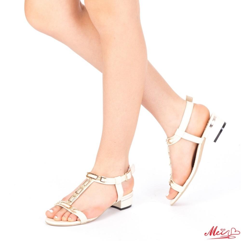 Sandale Dama cu Toc LM171 Off-White Mei
