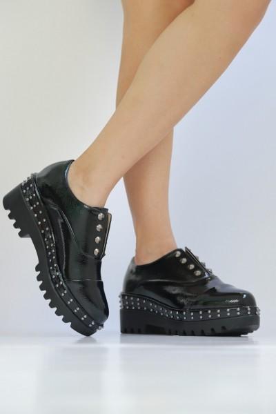 Pantofi Casual Dama LM182 Black Mei