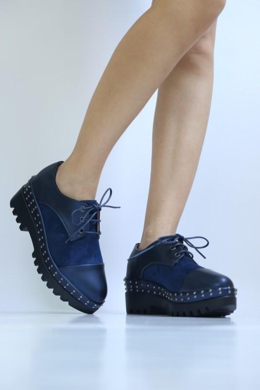 Pantofi Casual Dama LM186 Blue Mei