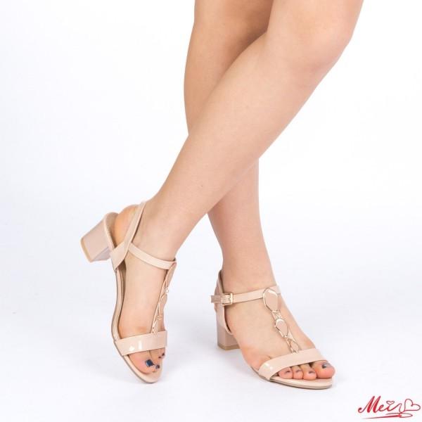 Sandale Dama cu Toc LM208 Nude Mei