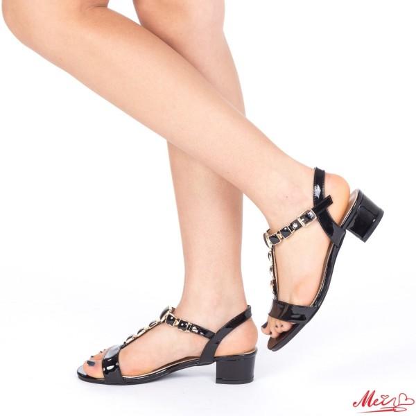 Sandale Dama cu Toc LM210 Black Mei