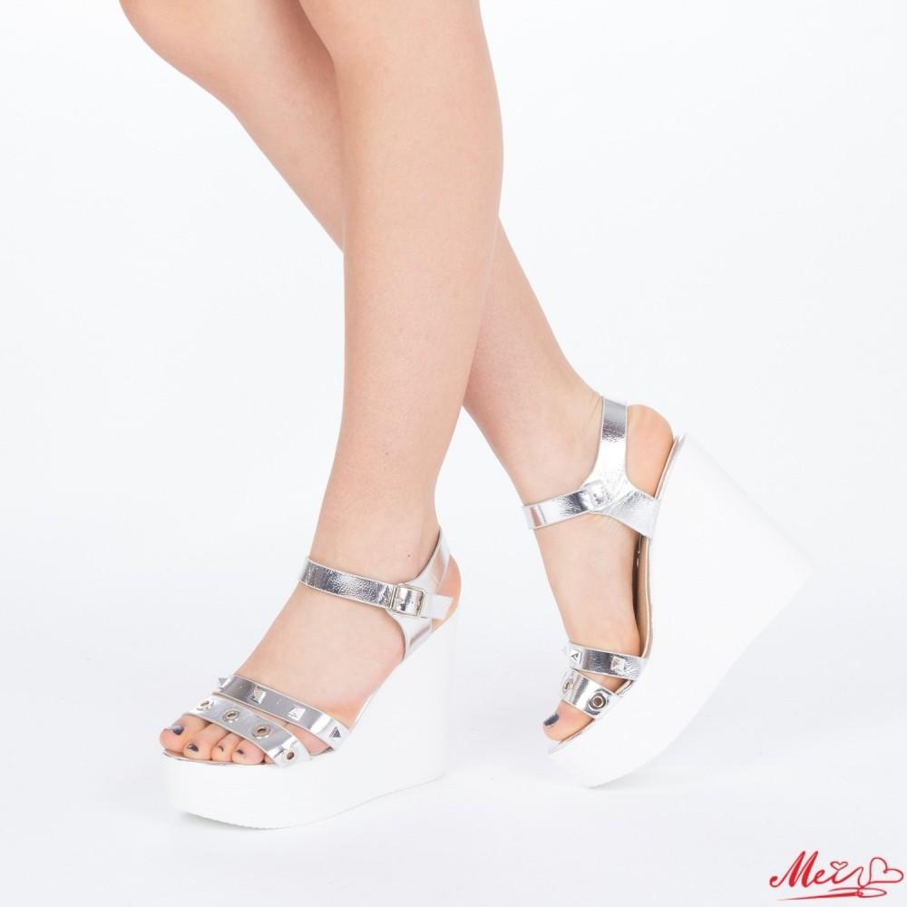 Sandale Dama cu Platforma LM215 Silver Mei