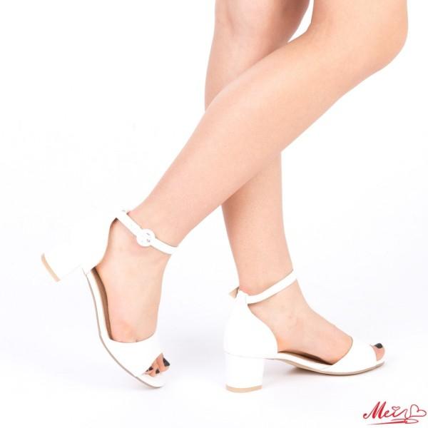 Sandale Dama cu Toc LM218 White Mei