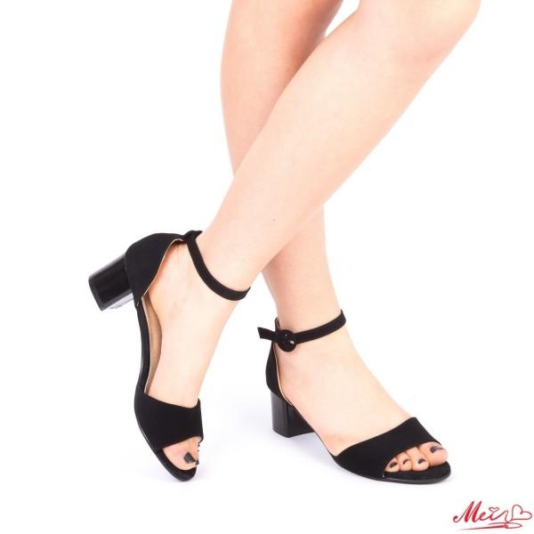 Sandale Dama cu Toc LM218A Black Mei