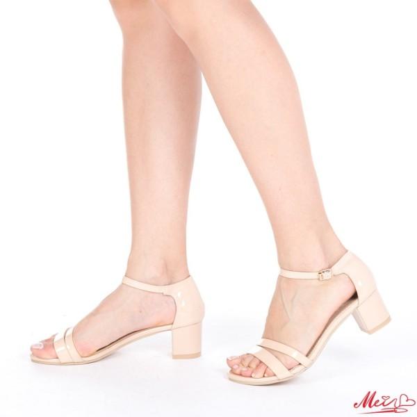 Sandale Dama cu Toc LM98 Nude Mei