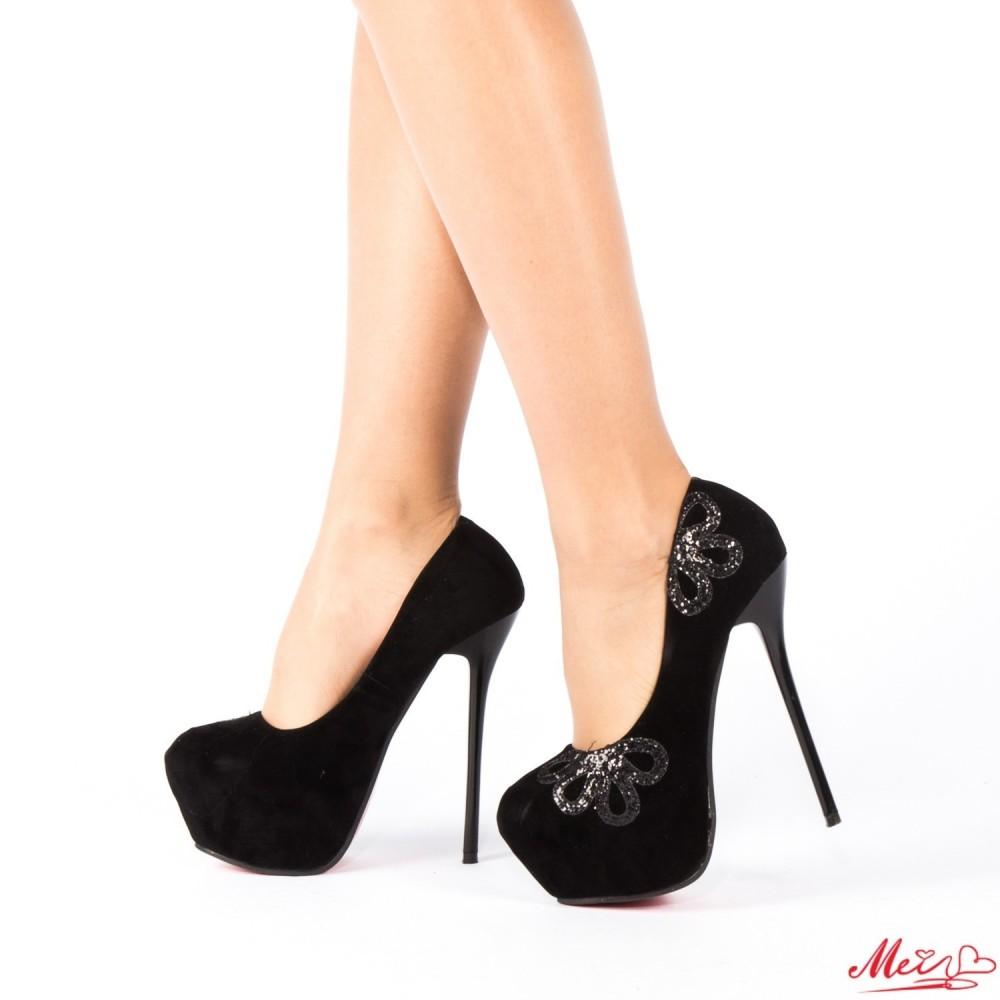 Pantofi cu Toc M888-18 Black Mei