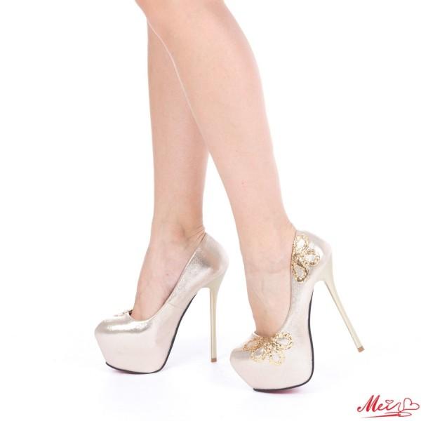 Pantofi cu Toc M888-18 Gold Mei