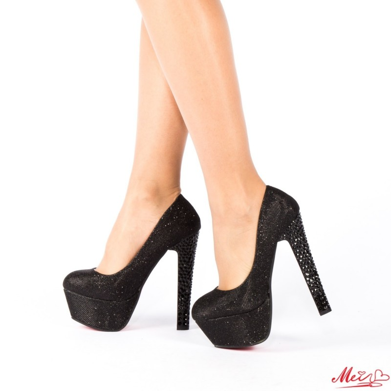 Pantofi cu Toc M888-19 Black Mei