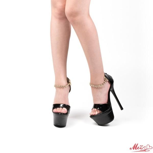 Sandale Dama cu Toc M888-47 Black Mei