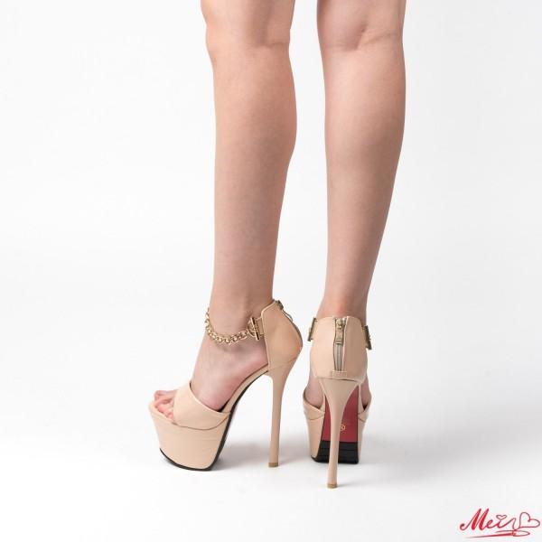 Sandale Dama cu Toc M888-47 Camel Mei