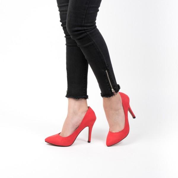 Pantofi cu Toc OL0143 Red Mei