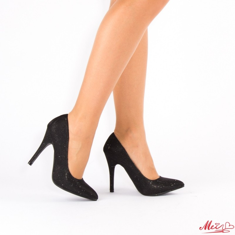 Pantofi cu Toc OL0143-1A Black Mei
