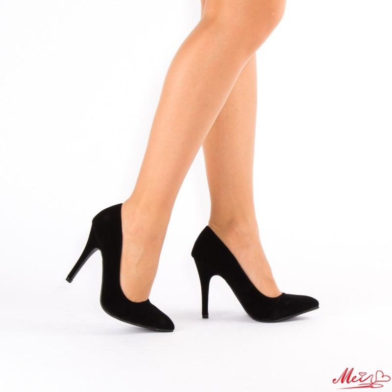 Pantofi cu Toc OL0143-6 Black Mei