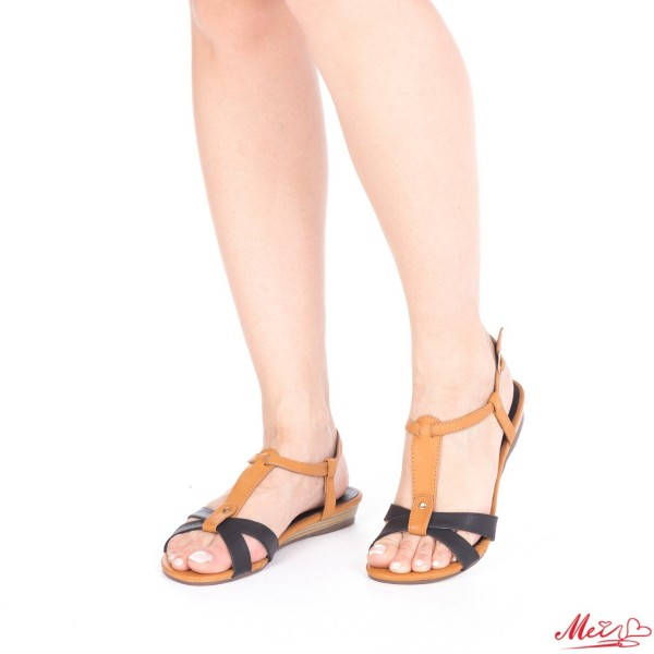 Sandale Dama OL103 Black-Camel Mei