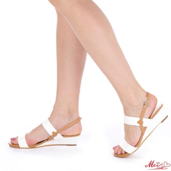 Sandale Dama cu Toc OL167 White Mei