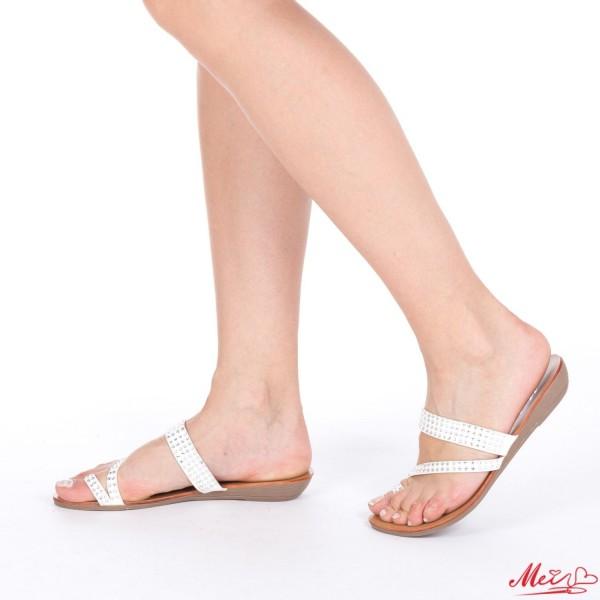 Papuci Dama OLLM178 White Mei