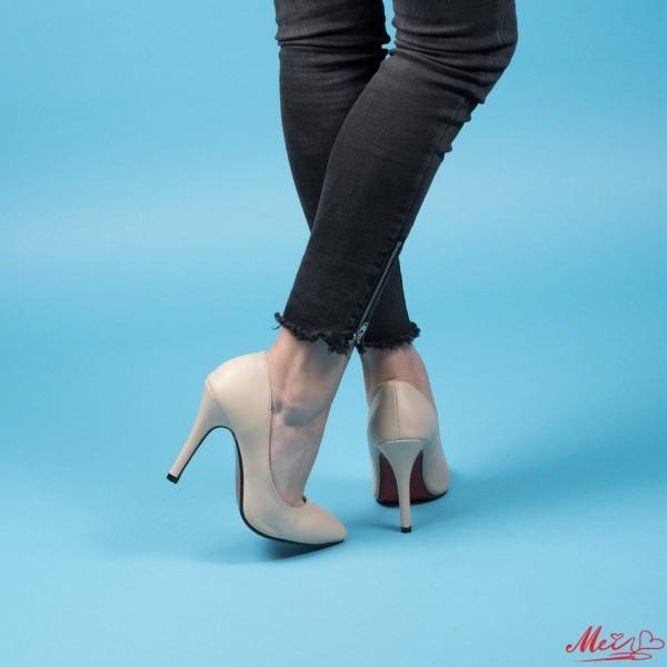 Pantofi cu Toc OLMD1 Beige Mei