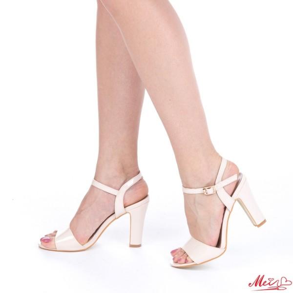 Sandale Dama cu Toc OS07 Nude Mei