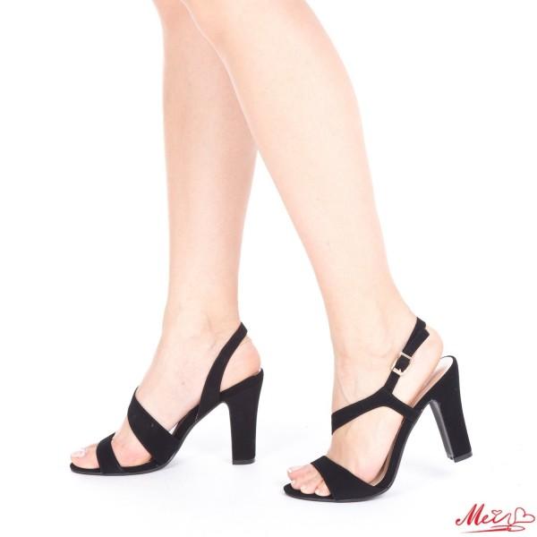 Sandale Dama cu Toc OS08A Black Mei