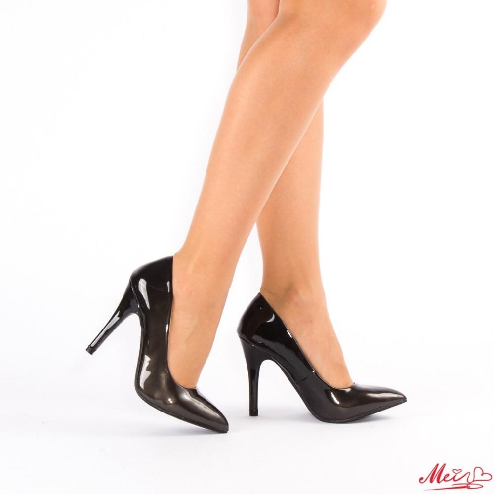 Pantofi cu Toc QZL126 Black Mei