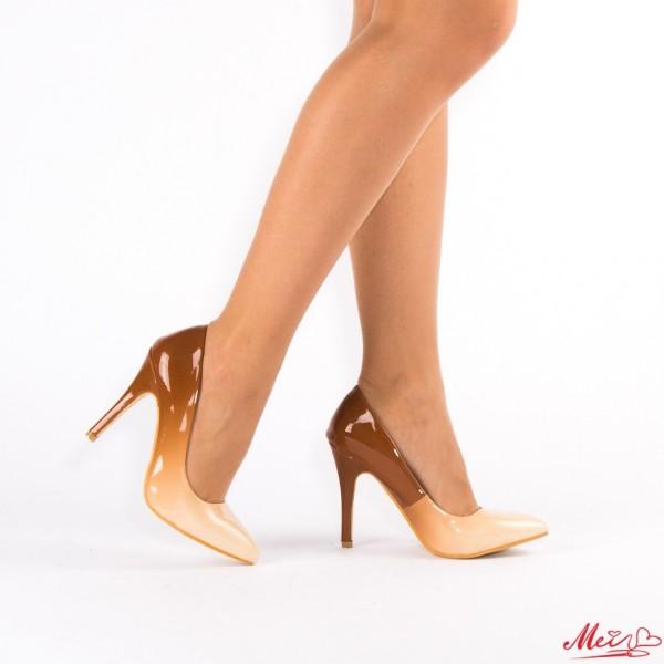 Pantofi cu Toc QZL126 Beige Mei