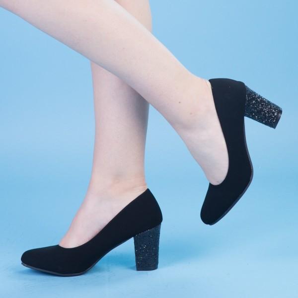 Pantofi cu Toc QZL128 Black Mei