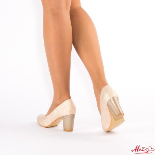 Pantofi cu Toc QZL130 Gold Mei