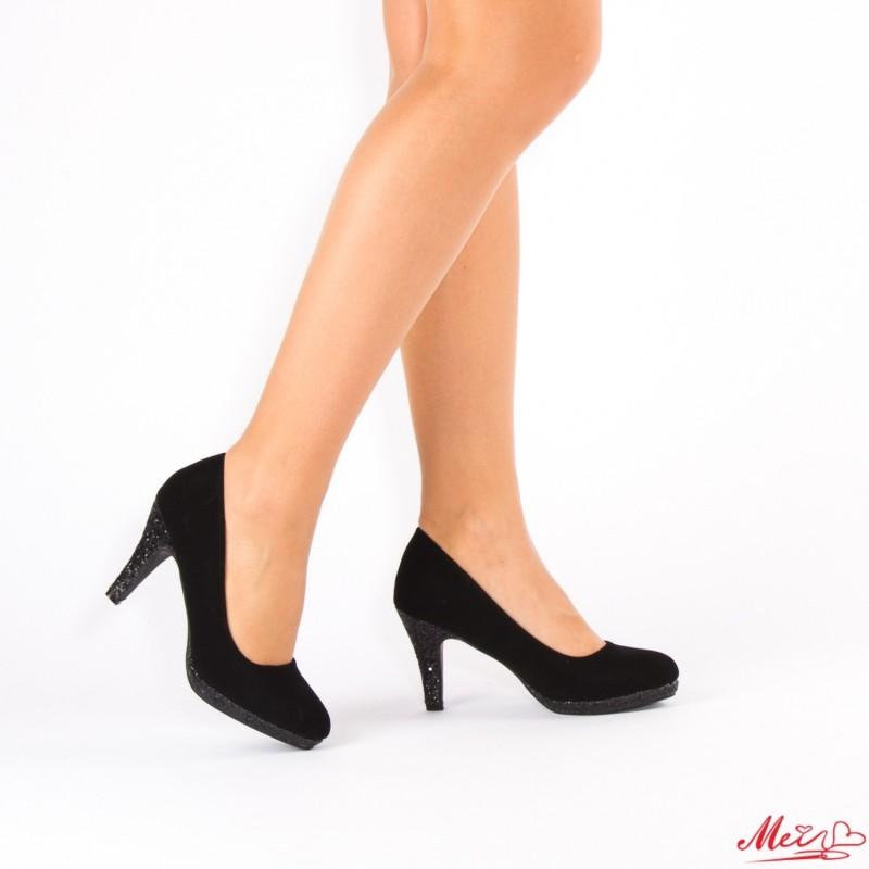 Pantofi cu Toc QZL131 Black Mei