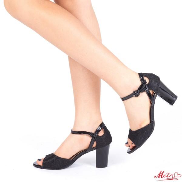 Sandale Dama cu Toc QZL150 Black Mei