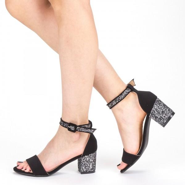 Sandale Dama cu Toc QZL152 Guncolor Mei